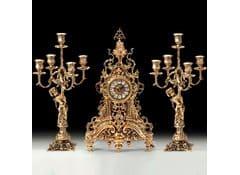 Канделябры с часами Ажур на 5 свечей