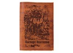 Обложка на паспорт из кожи Олень