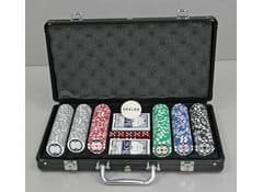 Набор для покера в чемодане с номиналом, 300 фишек