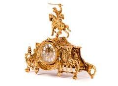 Часы каминные антикварные Рыцарь с канделябрами на 3 свечки