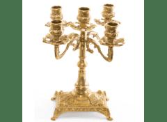 Канделябр Alberti Livio на 5 свечей, латунь