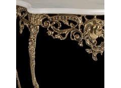 Консоль в бронзовой оправе с 2-мя столешницами из мрамора
