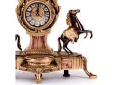 Часы каминные антикварные Ампир с лошадьми