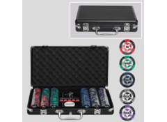 Покерный набор в кейсе, 300 фишек с номиналом