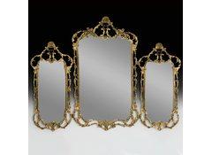 Зеркало настенное 3-х секционное в бронзовой оправе