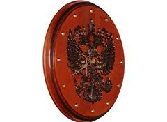 Часы настенные необычные Герб РФ