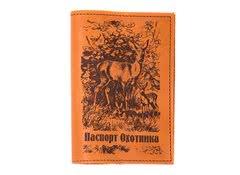Обложка для паспорта мужская Олень (светло-коричневая)