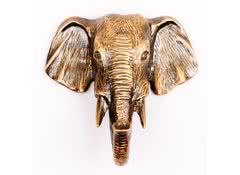 Вешалка - крючок Голова слона малая