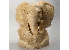 Скульптура из керамики Бюст слона