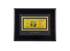 Настенное панно с банкнотой 100$