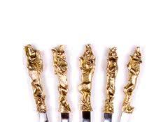 Комплект шампуров для мужчин Звери, 6 шт