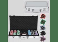 Набор покерных фишек, 300 с номиналом