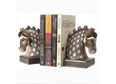 Держатель для книг керамический Голова лошади