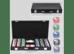 Набор фишек для игры в покер, 300 с номиналом