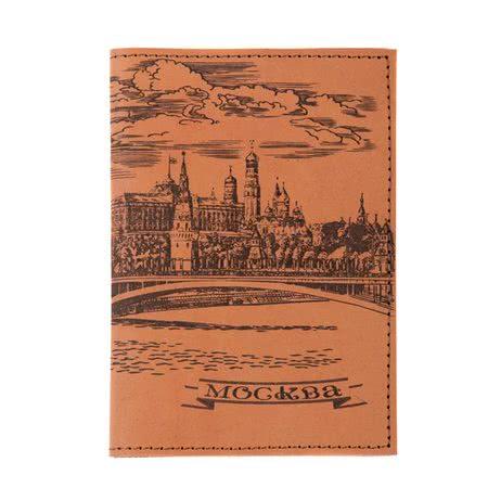 Обложка для паспорта из натуральной кожи Москва