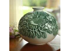 Ваза из керамики для цветов De Rosa Rinconada Птицы