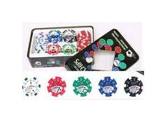 Набор фишек для игры в покер 100