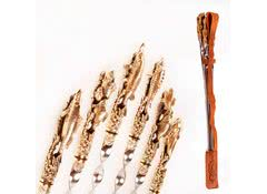 Набор шампуров 6 шт Рыбалка в кожаном чехле