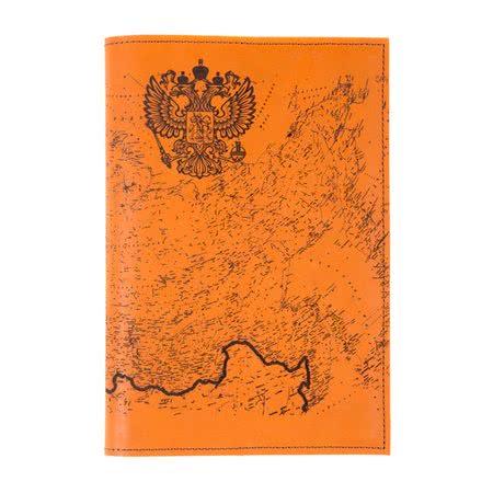 Ежедневник планер большой кожаный Карта России