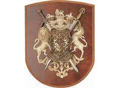 Панно: мини-меч Ричарда Львиное Сердце, мини-меч Тизона Д`Сида, кираса